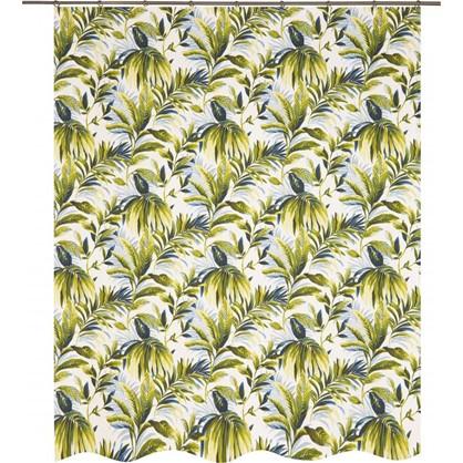 Купить Штора на ленте Доминикана 160х260 см цвет зеленый дешевле