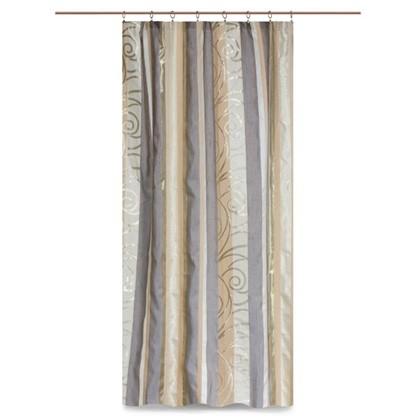 Штора на ленте Фифини 160x260 см цвет экрю