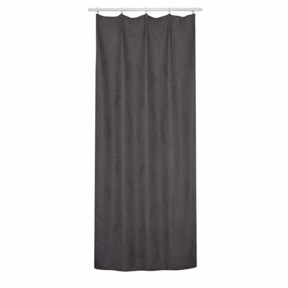 Штора на ленте Гамма 140х260 см цвет темно-серый