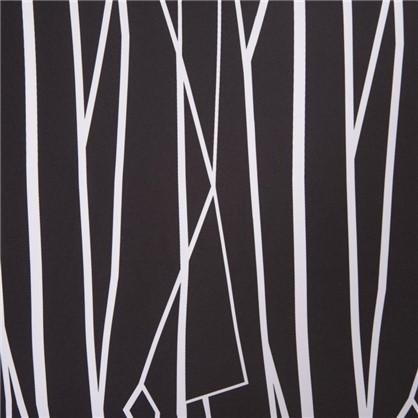Штора на ленте Геометрия 140х260 см цвет черно-белый