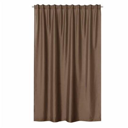 Купить Штора на ленте Inspire Нью Силка 200х280 см цвет серый/коричневый дешевле