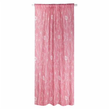 Штора на ленте Ипсвич 160х260 см цвет розовый