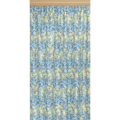 Купить Штора на ленте Ирисы 140х260 см цвет зеленый дешевле