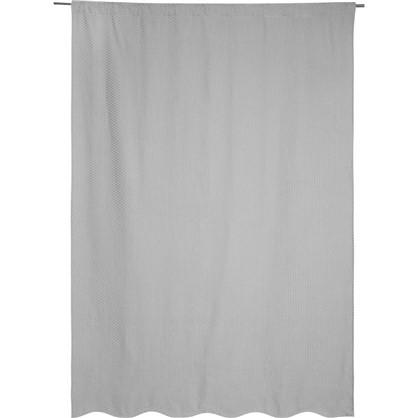 Штора на ленте Кермс 200x280 см цвет серый