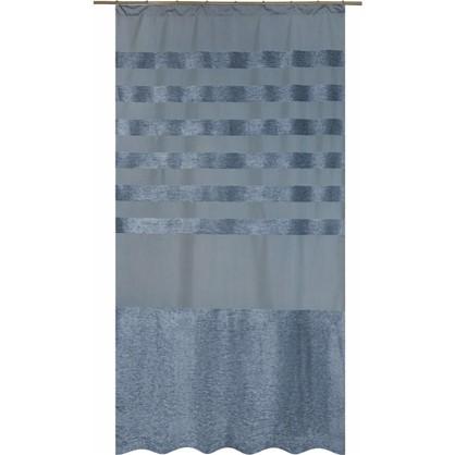 Штора на ленте Киров 140х260 см цвет голубой