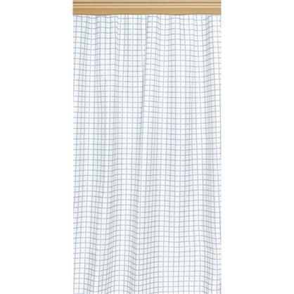 Купить Штора на ленте Клетка 140х260 см цвет бело-черный дешевле