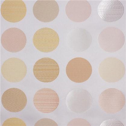 Купить Штора на ленте Круги 145х280 см цвет белый дешевле
