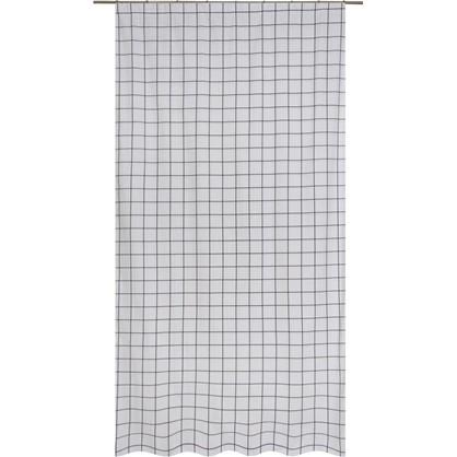 Штора на ленте Квадрат - 1 140х260 см цвет черно-белый