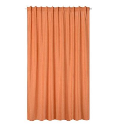 Штора на ленте Лукс 200х260 см цвет оранжевый