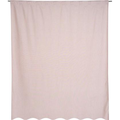 Штора на ленте Лукс 200х260 см цвет розовый антик