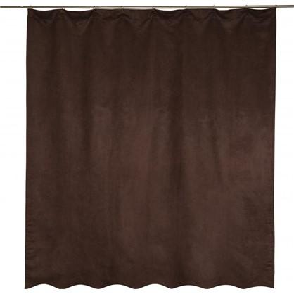 Купить Штора на ленте Манчестер 200x260 см цвет шоколадный дешевле
