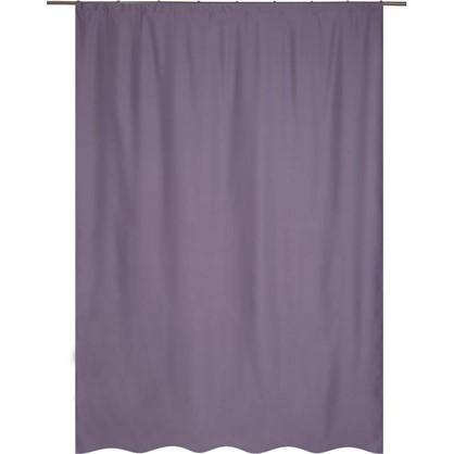 Штора на ленте Ночь 200х280 см цвет фиолетовый