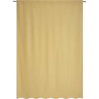 Купить Штора на ленте Ночь 200х280 см цвет светло-желтый дешевле