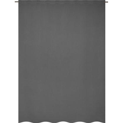 Купить Штора на ленте Ночь 200x280 см цвет серый дешевле