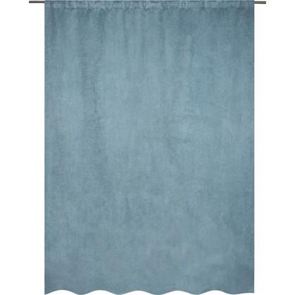 Штора на ленте Нью Манчестер 200х280 см цвет голубой