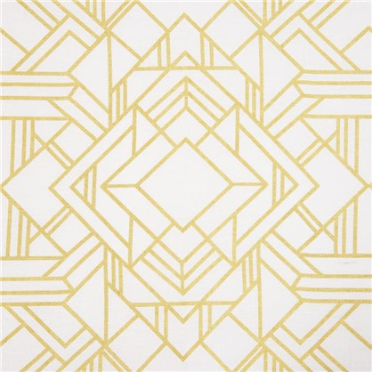 Штора на ленте Ромбы 145х260 см цвет золотой