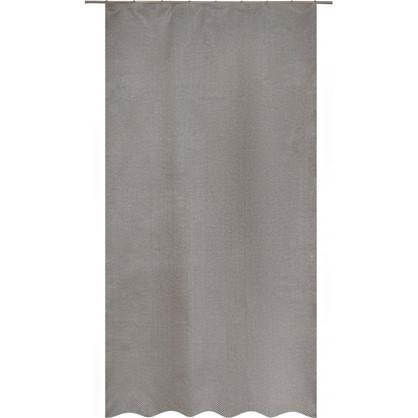 Купить Штора на ленте Satka 140х260 см жаккард цвет серый экрю дешевле