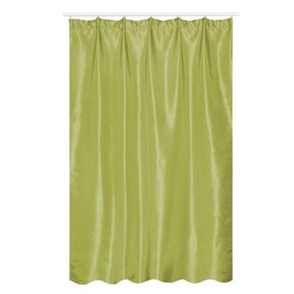 Купить Штора на ленте Силка 200х280 см цвет зеленый дешевле