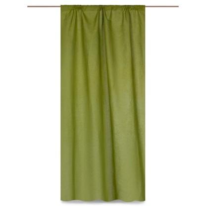 Купить Штора на ленте Весенняя зелень 145х260 см цвет зеленый дешевле