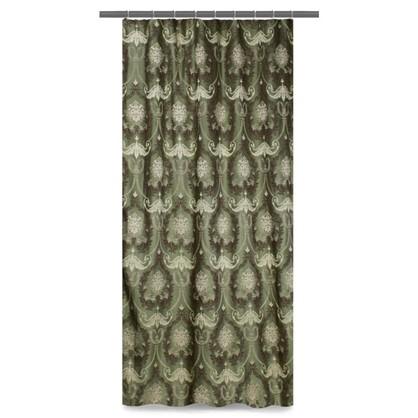 Купить Штора на ленте Веста 160х260 см жаккард цвет зеленый дешевле