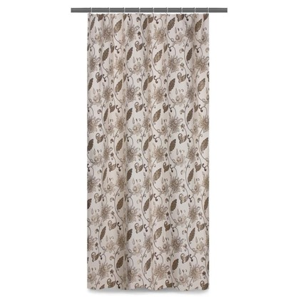 Штора на ленте Виктория 140х260 см цвет коричневый