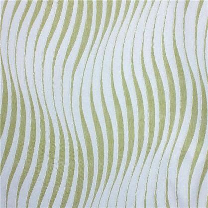 Штора на ленте Волна 160х260 см сатен/жаккард цвет зеленый