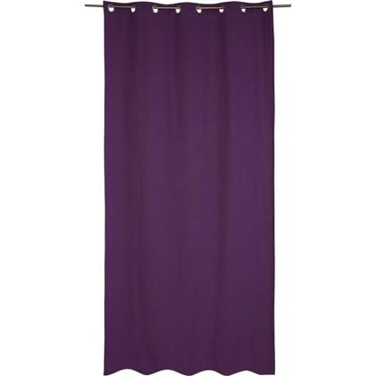 Штора на люверсах Helena 140х280 см цвет фиолетовый