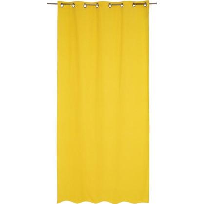 Штора на люверсах Helena 140х280 см цвет желтый