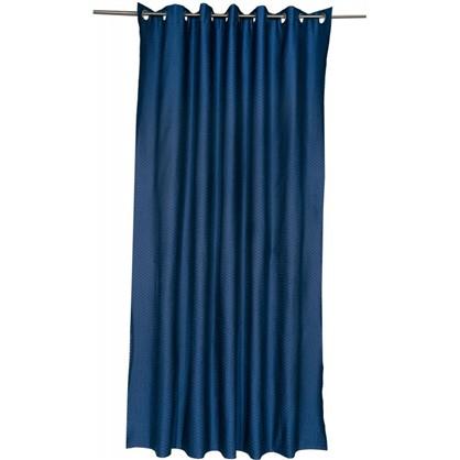 Купить Штора на люверсах Ритм 200х260 см цвет синий дешевле