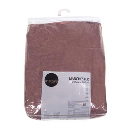 Купить Штора Нью Манчестер 200х280 см крепление люверсы цвет розовый дешевле