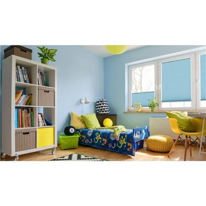 Штора плиссе Плайн 40х160 см текстиль цвет бирюзовый