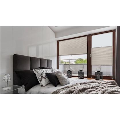 Купить Штора плиссе Плайн 50х160 см текстиль цвет серый дешевле