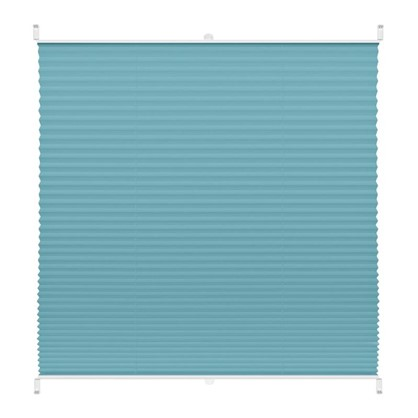 Штора плиссе Плайн 55х160 см текстиль цвет бирюзовый