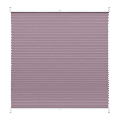 Штора плиссе Плайн 55х160 см текстиль цвет сиреневый