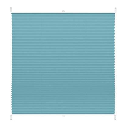 Штора плиссе Плайн 60х160 см текстиль цвет бирюзовый