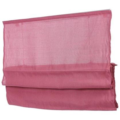 Штора римская Натур 100х160 см цвет розовый
