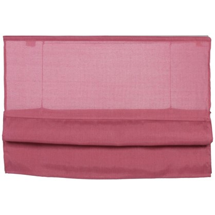 Штора римская Натур 140х160 см цвет розовый