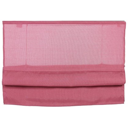 Штора римская Натур 60х160 см цвет розовый
