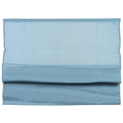 Купить Штора римская Натур 60х160 см цвет синий дешевле