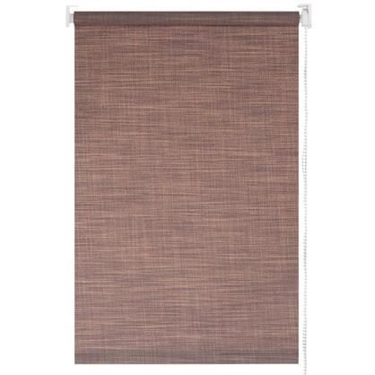Штора рулонная Blackout 100х160 см шантунг цвет коричневый
