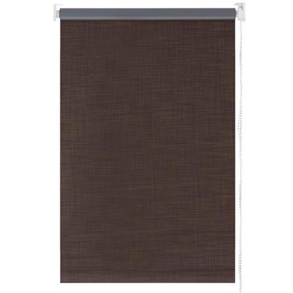 Купить Штора рулонная Blackout 140х175 см шантунг цвет коричневый дешевле