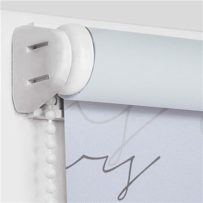 Штора рулонная Blackout Письмо 60х160 см цвет серый