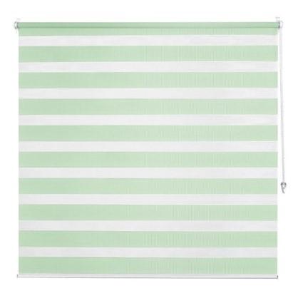 Штора рулонная день-ночь Inspire 120х160 см цвет зеленый