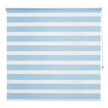 Штора рулонная день-ночь Inspire 140х175 см цвет голубой