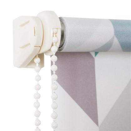 Штора рулонная Геометрия 100х160 см цвет бирюзовый