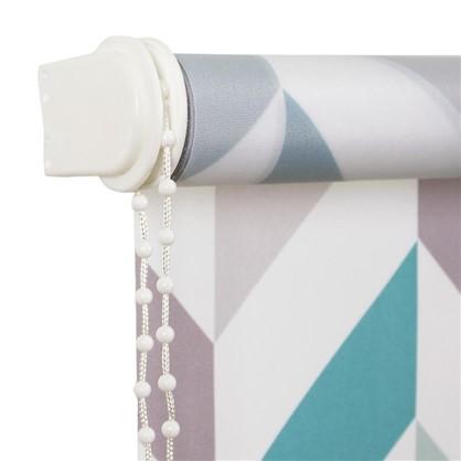 Штора рулонная Геометрия 140х175 см цвет бирюзовый