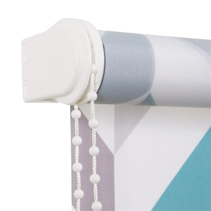 Штора рулонная Геометрия 160х175 см цвет бирюзовый