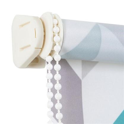 Штора рулонная Геометрия 40х160 см цвет бирюзовый