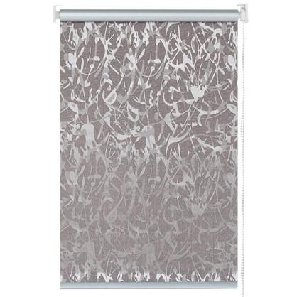 Штора рулонная Муар 140х175 см цвет коричневый