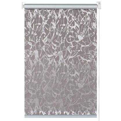 Штора рулонная Муар 60х175 см цвет коричневый